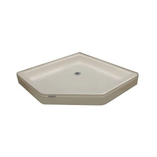 "Jacuzzi CAY3838SNXXXX Cayman 38"" x 38"" Neo-Angle Shower Pans with Center Drain"