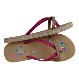 Catchfly Western Shoes Womens Flower Flip Flops Floral 1746521F4