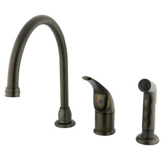 Single Handle Kitchen Faucet with Non-Metallic Side Sprayer
