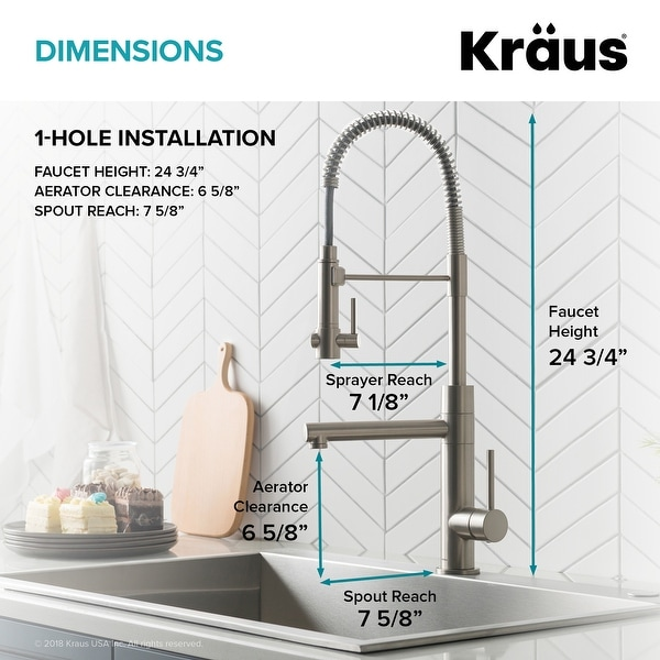 Kraus Artec 2-Function Commercial Pulldown Pot Filler Kitchen Faucet