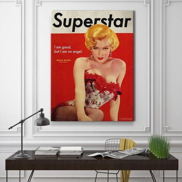 IKONICK Marilyn Monroe - Superstar Cover Canvas Art