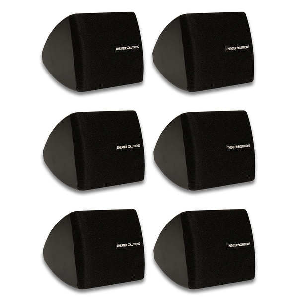 Theater Solutions TS30B Mountable Indoor Speakers Black 3 Pair Pack TS30B-3PR