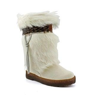 Bearpaw Kola Women Round Toe Suede White Snow Boot