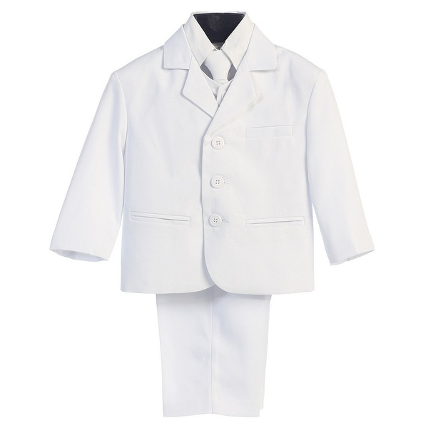3a4258236 Shop Baby Boys White Wedding Easter 5 Pcs Special Occasion Suit 6-24M -  Free Shipping On Orders Over $45 - Overstock - 23061670