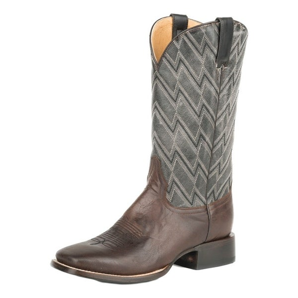 Roper Western Boots Mens Square Chevron Embroidery
