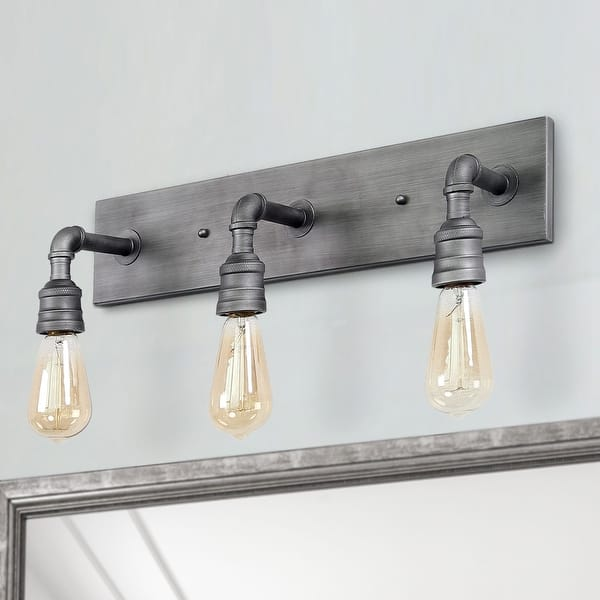 Carbon Loft Elliot 3 Light Bathroom Vanity Lights Wall Sconce Silver Wall Lamp W22 2 H6 7 E6 3 On Sale Overstock 28873312