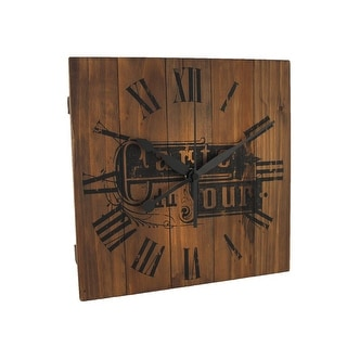 10 Inch Square French Menu Carte Du Jour Wooden Wall Clock