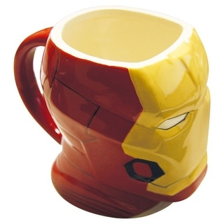 Iron Man Molded Coffee Mug - Collectable Marvel Merchandise - Holds 16 Ounces