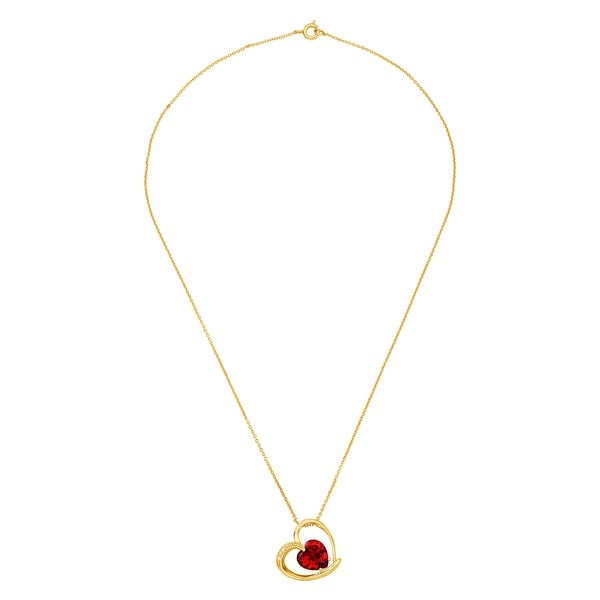 4mm in Brass CZ Round  Solitaire Necklace