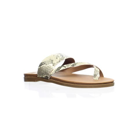 Steve Madden Womens Athens Brown Sandals Size 6.5