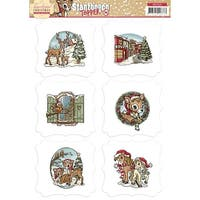 Find It Trading Yvonne Creations 3D Topper Sheet-Traditional Christmas