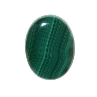 Malachite Gemstone Oval Flat-Back Cabochons 25x18mm (1 Piece)