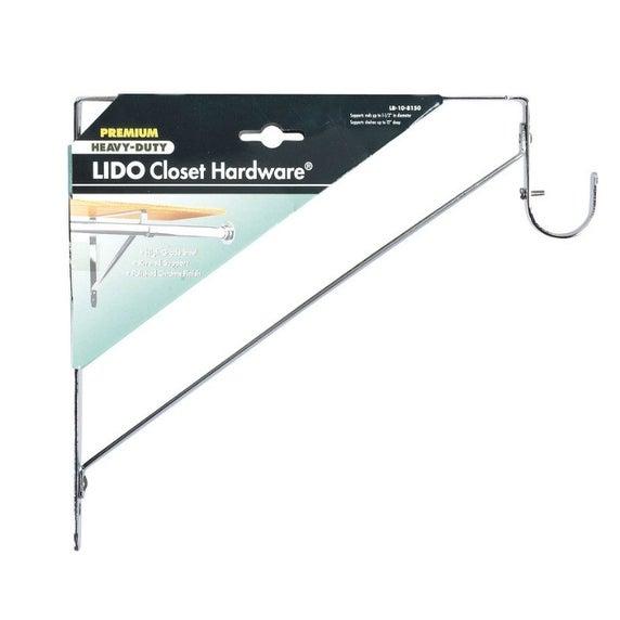 Shop Lido Designs Lb 10 8150a Heavy Duty Closet Rod Bracket Chrome