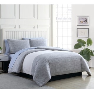 Link to Poppy & Fritz Connery Stripe Cotton Grey Duvet Cover Set Similar Items in Duvet Covers & Sets