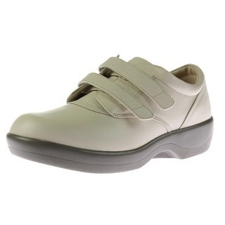 Apex Womens Leather Diabetic Fashion Sneakers