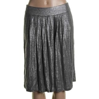 Eileen Fisher Womens Metallic Linen Flare Skirt - S