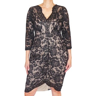 Funfash Plus Size Clothing Black Lace Slimming Women Cocktail Dress New Made in USA