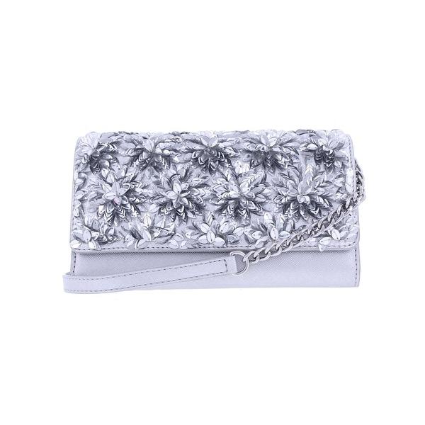 Michael Kors Womens Flora Envelope Wallet Leather Embellished - Small