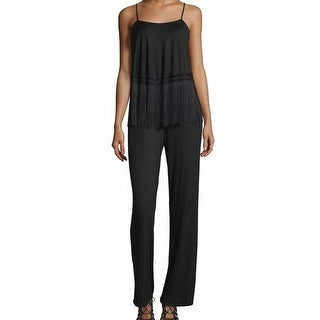 Trina Turk NEW Black Fringe-Front Women's Size Small S Jumpsuit