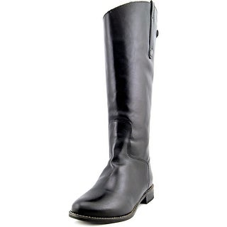 Matisse Yorker Wide Calf Women W Round Toe Leather Black Knee High Boot