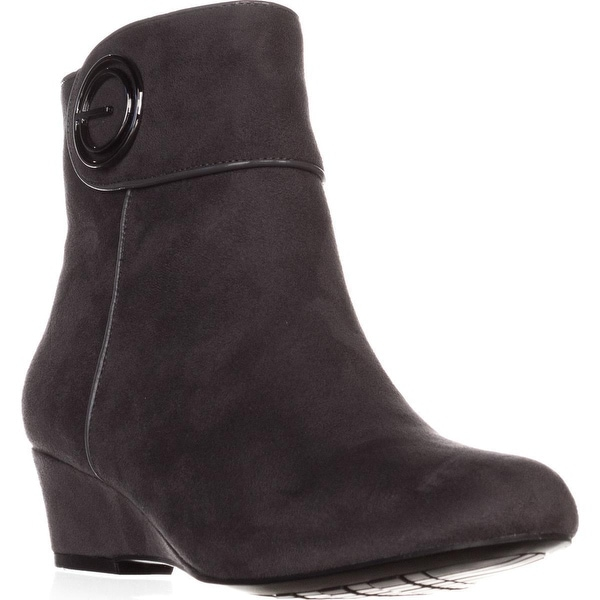 Impo Goya Wedge Casual Ankle Boots, Steel Grey