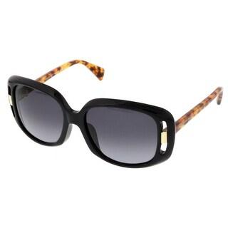 Alexander McQueen AMQ 4237/S 2JG Black Rectangular Sunglasses