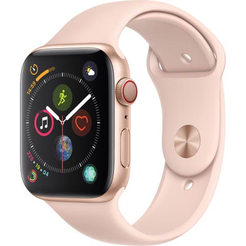 Apple Watch Series 4 44mm (GPS/4G, Gold Case, Pink Band) (Refurbished)