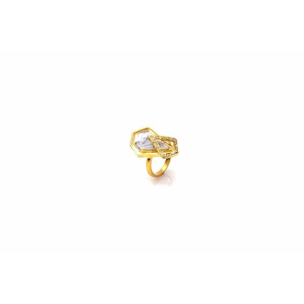 Promenade Ring in White - Size 6