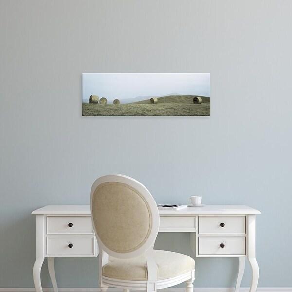 Easy Art Prints Alan Blaustein's 'Haystacks Tuscany #1' Premium Canvas Art