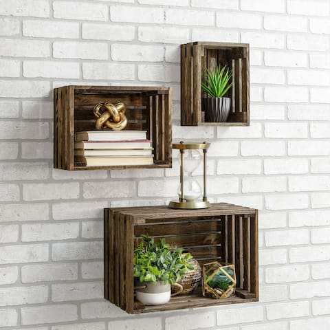 Chicory Wood Crate Shelf