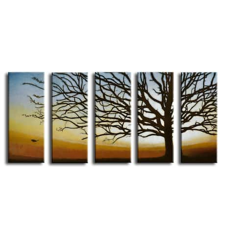 'The Last Leaf' 5 Piece Wrapped Canvas Wall Art Set by Norman Wyatt Jr.