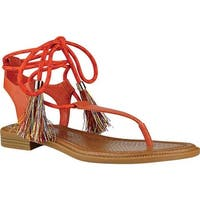 Nine West Women's Gannon Thong Sandal Orange Synthetic