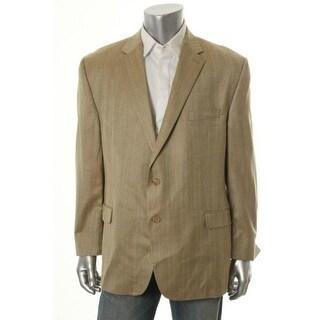 Lauren Ralph Lauren Mens Pattern Notch Collar Two-Button Suit Jacket - 44L