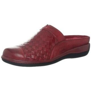 SoftWalk Womens San Marcos Leather Toe Cap Mules - 9 narrow (aa,n)