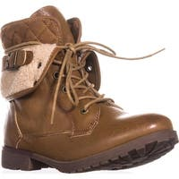 Rock & Candy Spraypaint Foldover Ankle Boots, Light Tan - 7 us