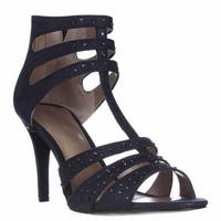 SC35 Ulani2 T-Strap Rhinestone Dress Sandals, Ink