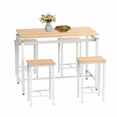 Mieres 5-piece Dining Table Set for Dining Room/Kitchen, Beige