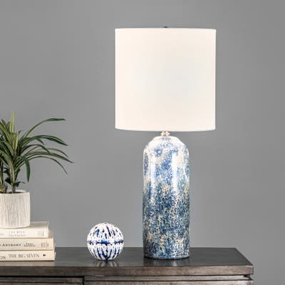 "nuLOOM Watts 25"" Ceramic Table Lamp - 11""W x 11""D x 25""H"