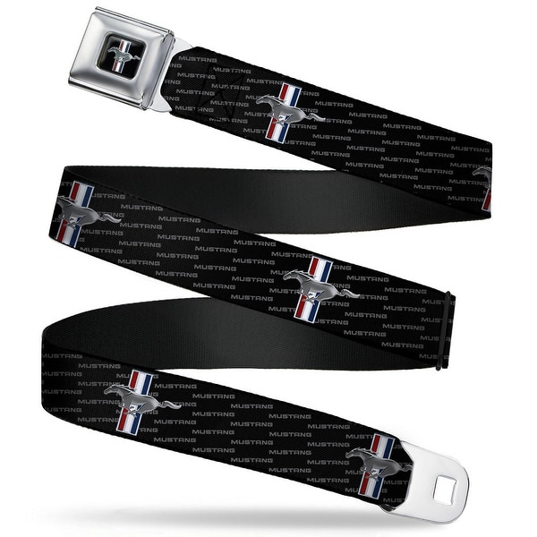 Ford Mustang Emblem Ford Mustang W Text Seatbelt Belt Fashion Belt