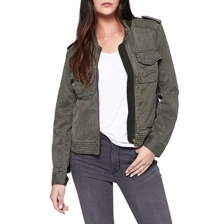 Sanctuary NEW Army Green Womens Size Large L Front-Zip Utility Jacket