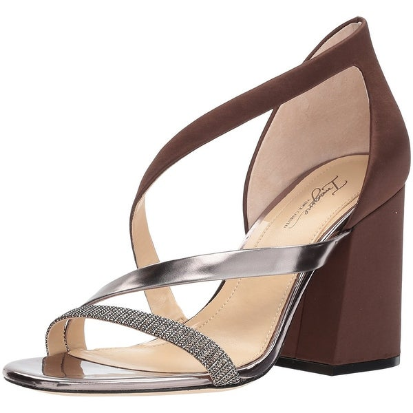 Imagine Vince Camuto Women's Abi Heeled Sandal, Dark Chocolate, Size 9.0 - 9
