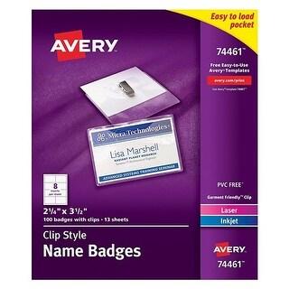 Avery Badge Holder Kit w/Laser/Inkjet Insert Badge Holder Kit