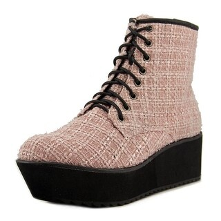 C Label NATA-11B Women Round Toe Synthetic Pink Ankle Boot