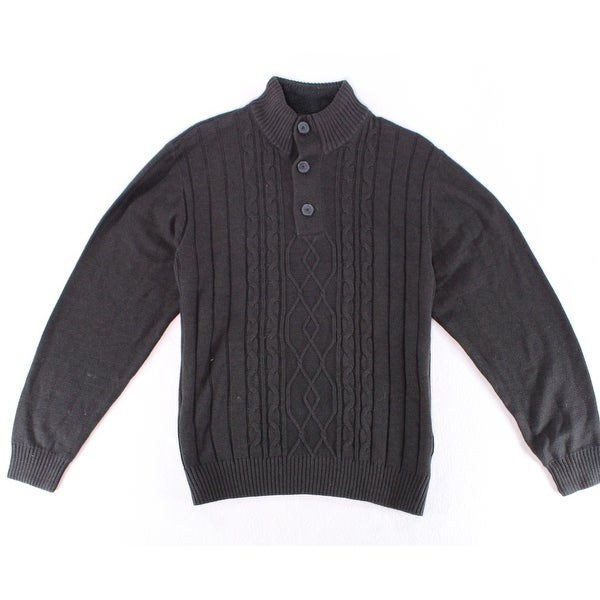 4e018ce13 Shop Tricots St. Raphael NEW Men s Black Size XL Cable Knit Henley Sweater  - Free Shipping On Orders Over  45 - Overstock.com - 18805504