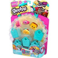 Shopkins 5 Pack Season 3, 5 Characters and 5 shopping bags - Multi-Colored