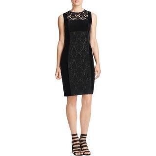 Elie Tahari Womens Renita Semi-Formal Dress Silk Velvet