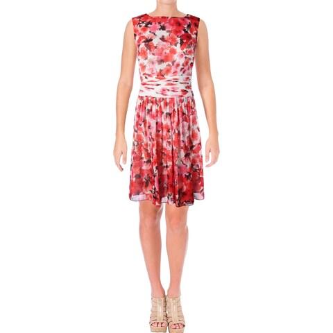 Lauren Ralph Lauren Womens Sundress Chiffon Floral Print