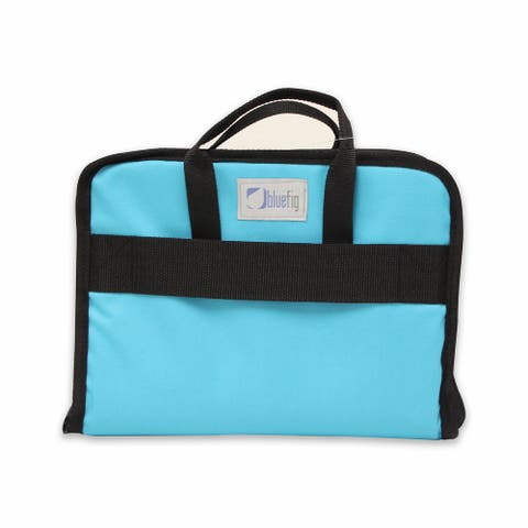 "BlueFig TB19 Sewing Machine Carrier/Project Bag/Notion Bag in Aqua - 19.25"" x 19.5"" x 14"""