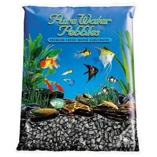 Pure Water Pebbles Aquarium Gravel Black Frost 5 lbs