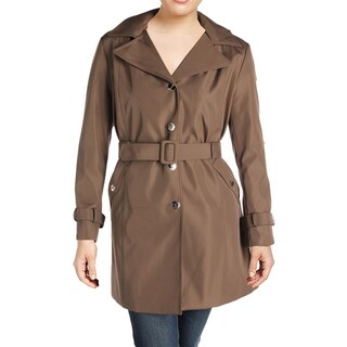 Calvin Klein Womens Plus Raincoat Water Resistant Trench - 2x